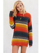 BDG Striped Boyfriend Sweater - Lyst