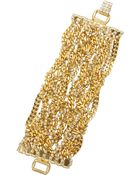 Tom Binns Uber Urban Gold-Plated Crystal Bracelet - Lyst