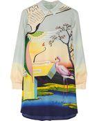 Mary Katrantzou Printed Silk-Georgette Mini Dress - Lyst