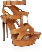 Saint Laurent Bianca Leather Sandals - Lyst