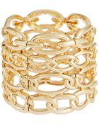 Cara Chain Link Stretch Bracelet - Lyst