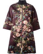 Antonio Marras Floral Print Zipped Coat - Lyst