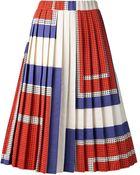 Suno Pleated Aline Skirt - Lyst