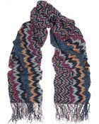 Missoni Textured-Knit Scarf - Lyst