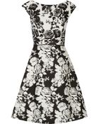 Oscar de la Renta Printed Cotton-Twill Dress - Lyst