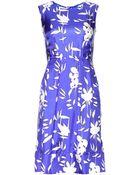 Marni Floral-Print Silk Dress - Lyst