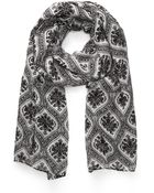 21men Damask Print Scarf - Lyst