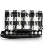 Diane von Furstenberg 440 Micro Check-Print Crossbody Bag - Lyst