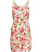 H&M Peplum Dress - Lyst