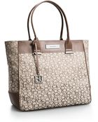 Calvin Klein White Label Logo Jacquard Large Shopper Tote - Lyst