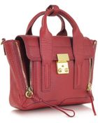 3.1 Phillip Lim Red Cow Leather Pashli Mini Satchel - Lyst