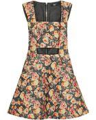 Markus Lupfer English Rose Olivia Printed Wool-Blend Mini Dress - Lyst