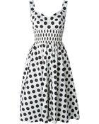 Dolce & Gabbana Sweetheart Dots Dress - Lyst