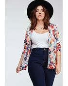 Forever 21 Abstract Floral Print Jacket - Lyst