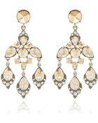 Oscar de la Renta Crystal Chandelier Earrings - Lyst