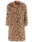 Ainea Caramel Spot Faux Fur Coat - Lyst