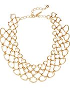 Oscar de la Renta Gold-Plated Necklace - Lyst