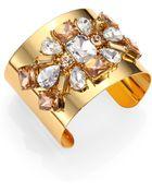 Kate Spade Crystal Arches Statement Cuff Bracelet - Lyst