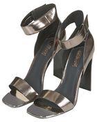 Topshop Rare Metal Toe Sandals - Lyst