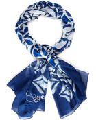 Diane von Furstenberg Blue Eaden Scarf - Lyst