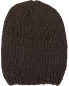 Anna Kula Knit Slouchy Hat - Lyst