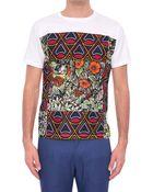 Dent De Man Printed Cotton Jersey T-Shirt - Lyst