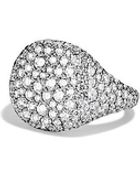 David Yurman Dy Pinky Ring In White Gold - Lyst