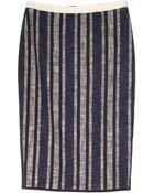 Giada Forte Navy Striped Tweed Skirt - Lyst