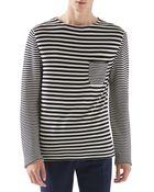 Gucci Striped Knit Cotton Sweater - Lyst