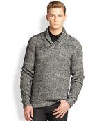 J.Lindeberg Shawl Collar Sweater - Lyst
