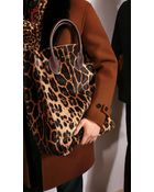 Burberry The Carryall In Animal Print Shearling - Lyst