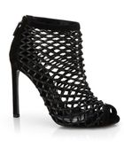 Gucci Leather Cage Booties - Lyst