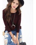 Forever 21 Slub Knit Dolman Sweater - Lyst