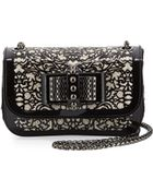 Christian Louboutin Sweet Charity Chantilly Lace Crossbody Bag - Lyst