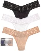 Hanky Panky Thongs - Cotton With A Conscience Original Rise, Set Of 3 #8918013Pk - Lyst
