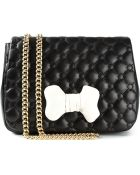 Moschino Cheap & Chic Quilted Bow-detail Leather Shoulder Bag - Lyst