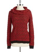 Calvin Klein Chunky Cowl Neck Sweater - Lyst