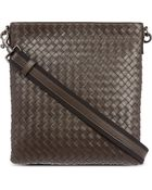 Bottega Veneta Intrecciato Leather Cross-Body Bag - Lyst
