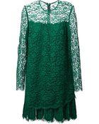 Ermanno Scervino Scalloped Hem Lace Dress - Lyst