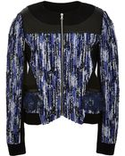 Prabal Gurung Draped Back Bomber Jacket - Lyst