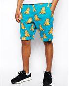 Lazy Oaf Shorts in Garfield Print - Lyst