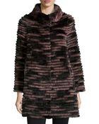 Belle Fare Ribbed Fur Coat - Lyst