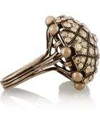 Lanvin Gold-Tone Swarovski Crystal Ring - Lyst