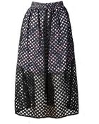 Carven Embroidered Hem Stitch Skirt - Lyst