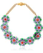Shourouk Small Narcis Necklace - Lyst