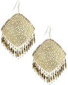 Nakamol Cutout Rhombus Fringe Beaded Earrings - Lyst