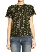 Balenciaga T-Shirt Short Sleeves Round Neck Cotton Printed On Front - Lyst