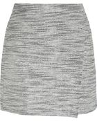 J.Crew Origami Wrap-Effect Metallic Tweed Mini Skirt - Lyst