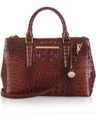 Brahmin Lincoln Embossed Leather Small Satchel - Lyst