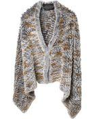 Liska Rabbit Fur Poncho - Lyst